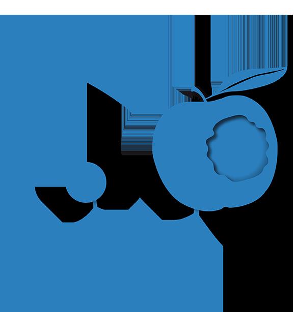 Hypnose muss schmecken Apfel-Icon blau-klein